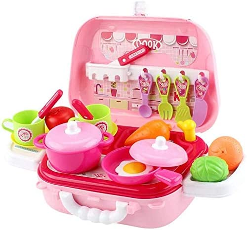 discount Kitchen Little Easy-to-use Kitchenware Set with Bag Shoulder Mini Play Kids