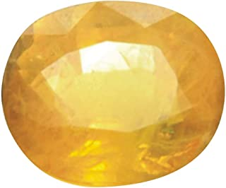 Tejvij And Sons Natural Yellow Sapphire Certified Gemstone