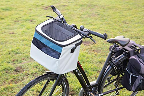 Beeztees K&Bz fietsmand Xoex nylon, grijs/blauw, 37 x 23 x 30 cm, 2000 g