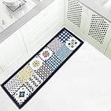 OMUSAKA Alfombras de Puerta Multicolor Antideslizante Baño de Dibujos Animados Cocina Felpudo Dormitorio Alfombras de Flores Comedor Estera