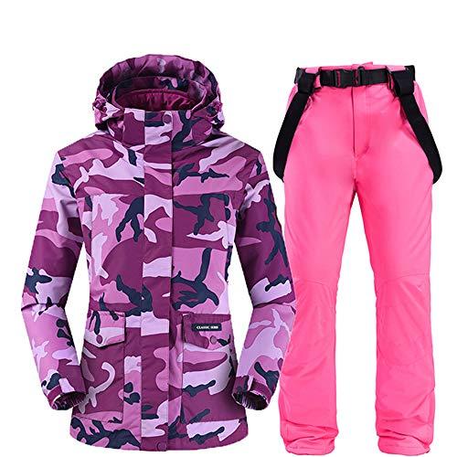 ZYJANO ski pak, Winter Outdoor Sport Skiën Jas voor Vrouwen Ski Pak Winddicht Waterdicht Camouflage Snowboard Set Vrouwelijke Sneeuw Jas En Broek