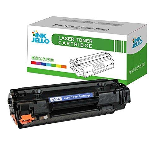 InkJello Kompatibel Toner Patrone Ersatz für HP Laserjet P1005 P1006 P1007 P1008 P1009 Canon LBP-3250 i-SENSYS LBP-3010 3100 LaserShot LBP-3018 3108 3050 3150 3010 3100 CB435A/CB436A/CRG712 (Schwarz)
