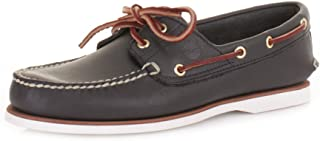 Timberland Classic Navy Leather Boat Deck Shoes Size 6-11.5