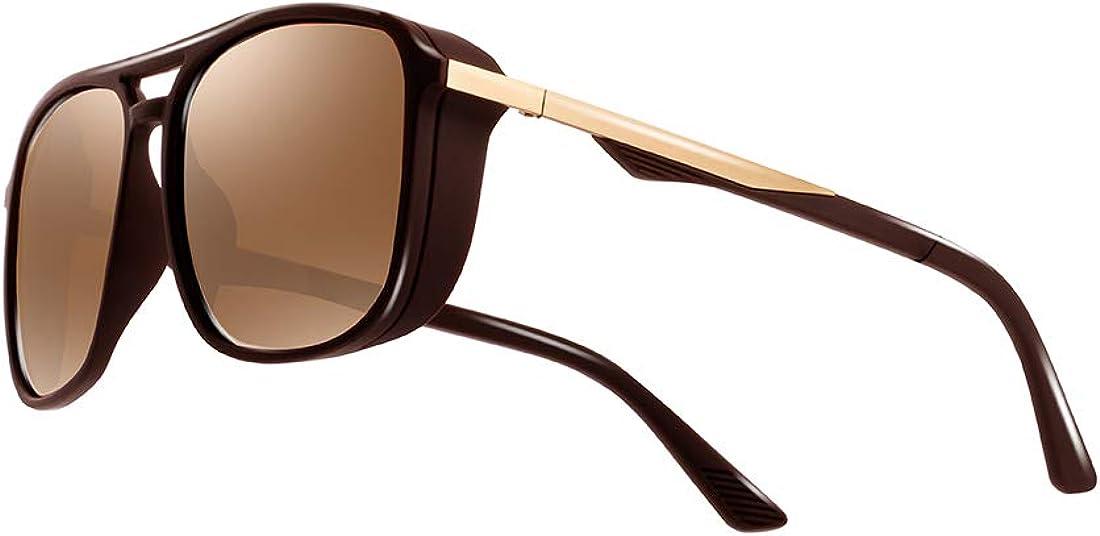 kimorn Gafas De Sol Polarizado Para Los Hombres Marco Cuadrado Unisexo Deportes Al Aire Libre Gafas Clásico K0623