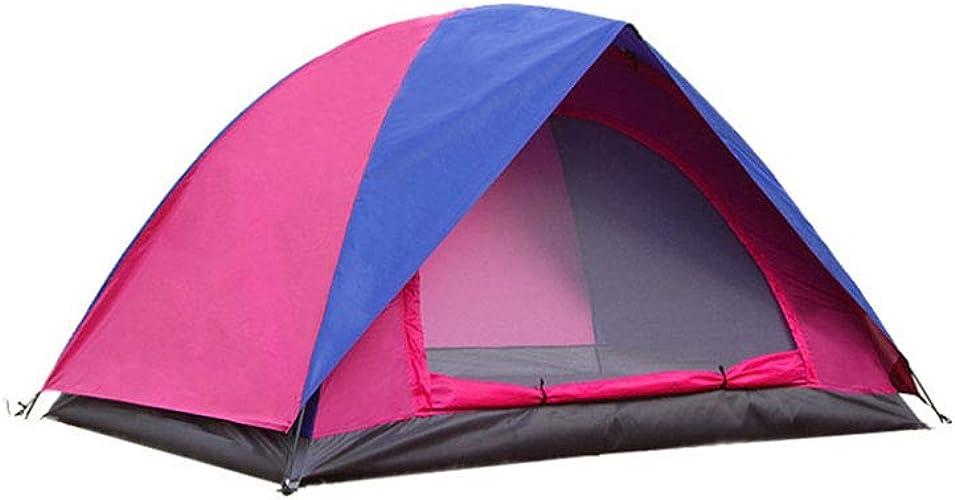 EP-Tent Tente de Camping en Plein air, Couple Double-Couche Camping étanche Prougeection Solaire Anti-Insectes Plage Camping Tente, approprié pour 23 Personnes, 83 × 60  × 44
