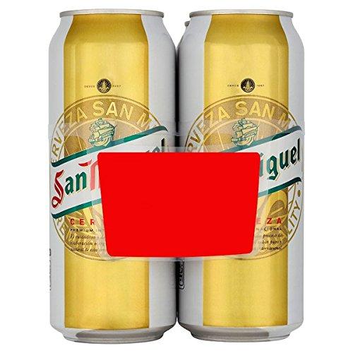 San Miguel Lager 4 x 500ml (paquete de 6 x 4x500ml)
