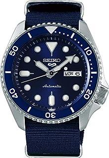 ساعة فايث ليفت 5 من سيكو، مقاومة للماء حتي عمق 10 بار، والتقويم، وبمينا زرقاء، ساعة رجالية SRPD51K2