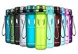 Super Sparrow Trinkflasche - Tritan Wasserflasche - 500ml - BPA-frei - Ideale Sportflasche - Schnelle Wasserdurchfluss, Flip Top, öffnet Sich mit 1-Click (Limeade, 500ml-17oz)