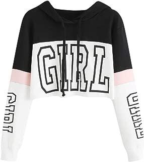 Sudaderas Adolescentes Chicas, Fossen Sudaderas Mujer Tumblr con Capucha - Emoticon Estampado Blusa Tops Camiseta de Manga Larga