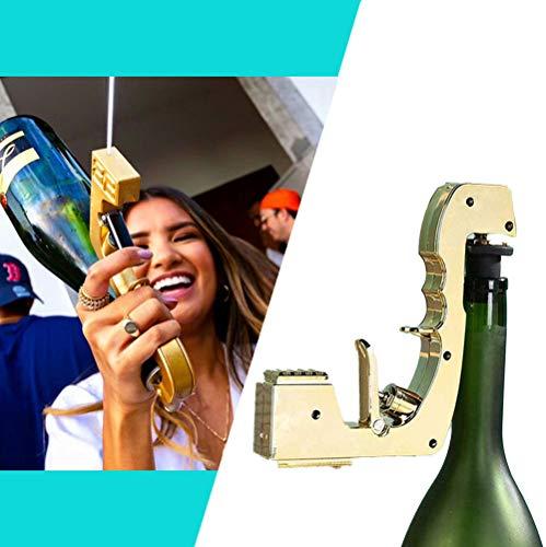 Dr.Cheol Bubbly Blaster Champagne Gun Rose Gold éjecteur de Bière,Pistolet à Champagne-pour L'outil de Barre de Boîte de Nuit de Noce