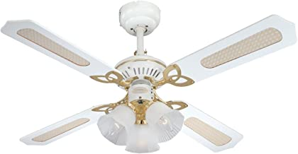 Westinghouse Princess Trio 105 cm/ 42-inches Ceiling Fans, White-White Cane/White