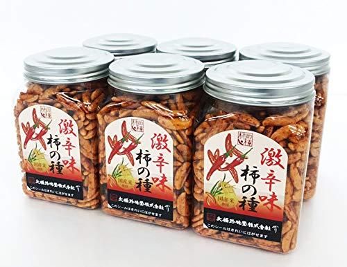 【手軽に食べることができるポットに入っています】大橋珍味堂 ポットシリーズ 柿の種 激辛味 6個(200g×6個)/常備 お菓子 おやつ おつまみ