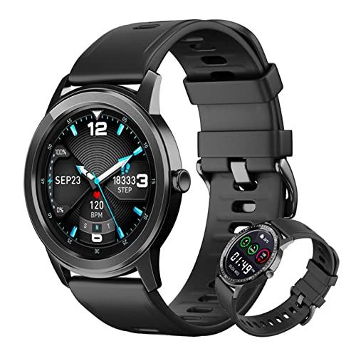 BNMY Smartwatch 1.28' Reloj Inteligente con Pulsómetro, Calorías, Monitor De Sueño, Podómetro Pulsera Actividad Inteligente Modos Deporte, IP67 Impermeable Reloj Deportivo para Android iOS,Negro