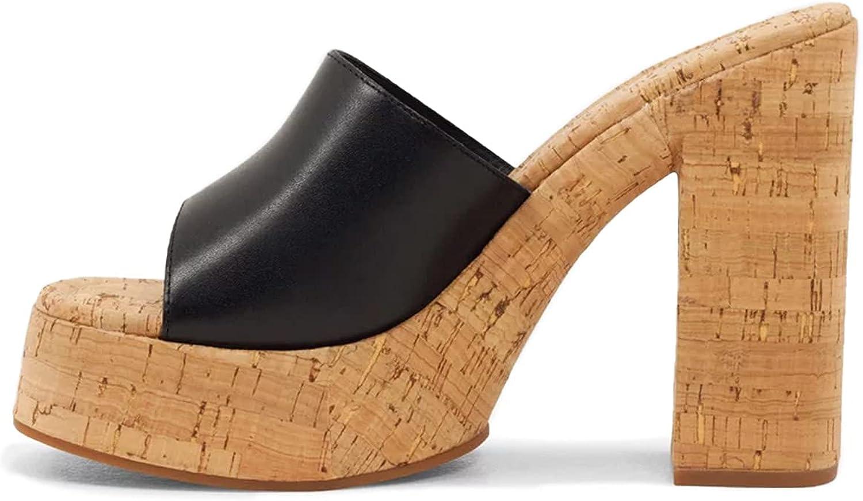 FOWT Natural Cork Mules Slingback Wedge Virginia Beach Mall Inexpensive Women Platform for