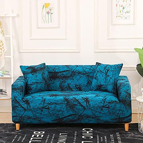 WXQY Funda de sofá de combinación de Esquina Impresa,Funda de sofá elástica elástica,Funda de sofá de protección para Mascotas,Antideslizante A5 3 plazas