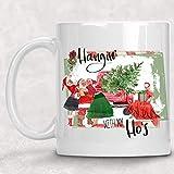 Hangin 'with my Ho' s, divertida taza navideña de chica pin-up vintage, regalo secreto de Papá Noel,...
