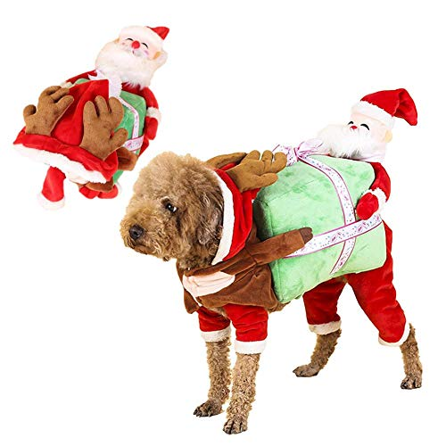 Sankt-Kerstmis Huisdier Outfit Sankt-Kerstmis Huisdier Kostuums Kleding Feestkleding Kerstmis Pak Voor Kleine Grote Honden Voor Festival Huisdier Jurk Up