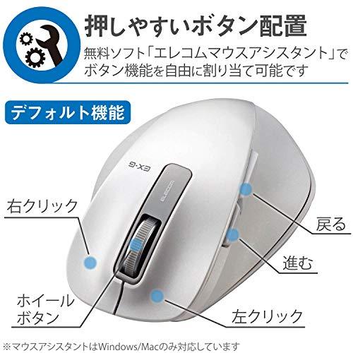 『エレコム マウス ワイヤレス (レシーバー付属) Sサイズ 小型 5ボタン (戻る・進むボタン搭載) BlueLED 握りの極み ホワイト M-XGS10DBWH』の3枚目の画像