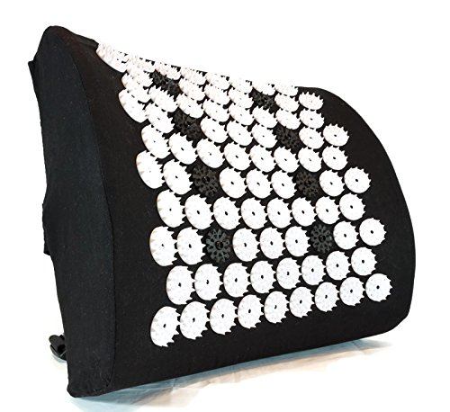 ZenGuru Best Lumbar Support Cushion - Acupressure Massage Back Pillow - Posture Improvement, Back Pain and Stress Relief - with Magnet Therapy â Ideal for Office Chair, Car Seat, Sofa or Recliner