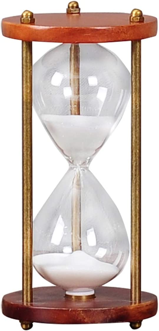 Color : Metallic XIAONINGMENG Hourglass Timer Solid Wood Hourglass Living Room Decoration 30 Minutes Home Decor