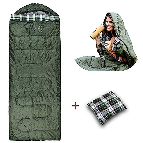 Sunflower Musk Wearable 4 Season Sleeping Bag – Arm Openings and Feet Extensions – Great for Camping, Outdoor, Sleepover, Hiking – Wide and Lightweight – Premium Acrylic Fiber Filling (Adult)