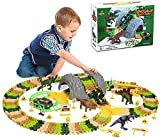 LINANNAN Kid's Dinosaur Carry Race Tracks Variable Racing Tray Tren Set 150 PCS...