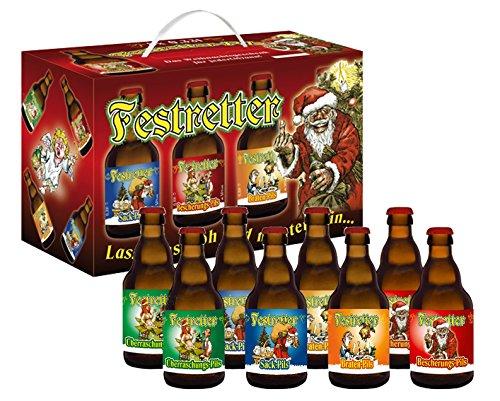 Weihnachts-Pils Festretter Weihnachtsbier im 8er Geschenkekarton (8 x 0.33 l)