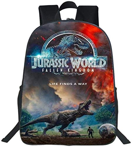 XWXBB Backpack 3D Printed Dinosaur Student Bag Jurassic Park Kids School Bag Teen Boy Girl Loptop Backpack G-16 Inches