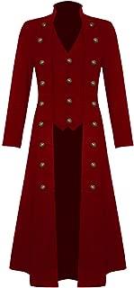 Men's Halloween Steampunk Jacket Victorian Gothic Tailcoat Vintage Costume Tuxedo Frock Coat Uniform VTG