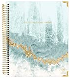 bloom daily planners 2021-2022 HARDCOVER Academic Year Goal & Vision Planner (July 2021 - July 2022) - Monthly/Weekly Agenda Calendar Organizer - 7.5' x 9' - Crystal Blue