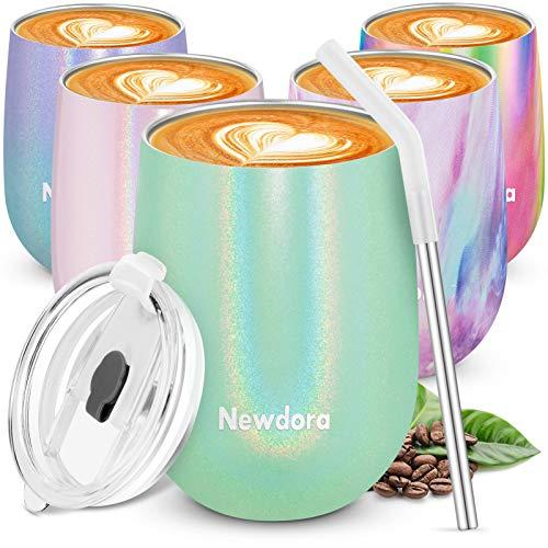 Newdora Termos caffè, Tazza da caffè in Acciaio Inox 360ml, Borraccia Termica con Una...