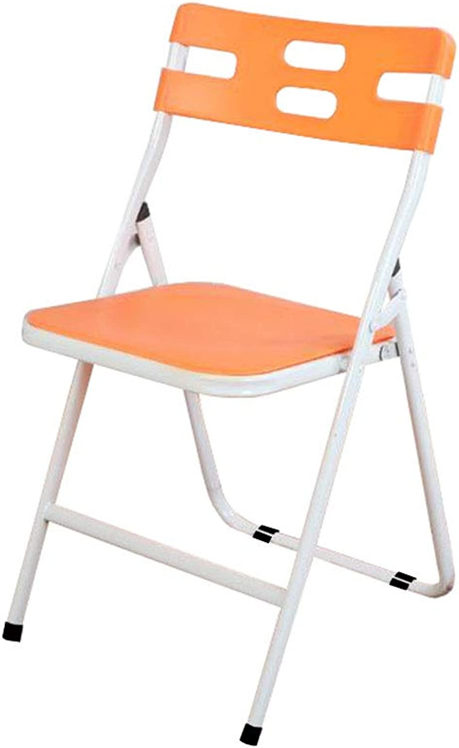 Folding Chair Office Desk Chair Staff orange Plastic Padded Student Training Modern