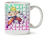 MugWorld Battle | Dragon Ball | DBZ | Goku | Frieza | Anime Series | Superhero | Figure | Power | Simple | Shape Taza para Café Y Té
