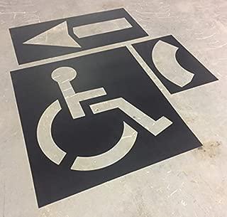 Best handicap stencils for parking lots Reviews