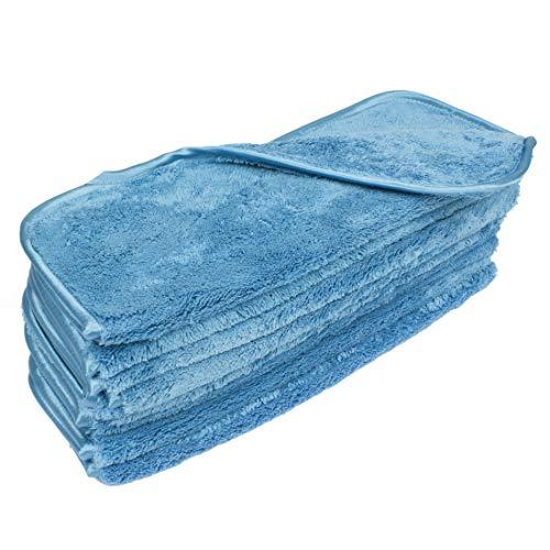 Eurow - Asciugamani in microfibra a doppia densità, 30,5 x 40,6 cm, 700 g/m², 10 pezzi