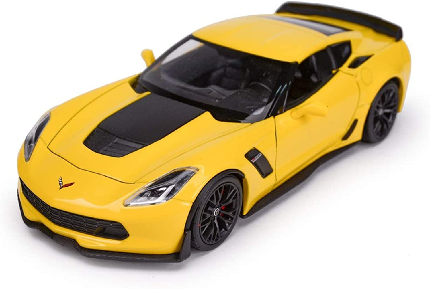 Model car Model Car 2017 Corvette Z06 Model 1 24 Scale Model Diecasting Model Alloy Model Collection Decorative Gift Ornaments (color   Yellow)