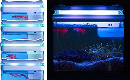 Sweetypet Aquarium: Transport-Fischbecken mit Filter, LED-Beleuchtung und USB, 3,3 Liter (Aquarium-Set) - 8