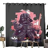 Cortinas de cocina cómics divertido arte de Star Wars Darth Vader utilizado en la sala de estar para mejorar la tabla dormitorio 137 x 183 cm