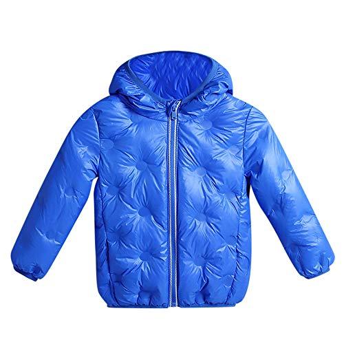 Manteaux bébé, YUYOUG Blouson Manteau Léger Enfant Garçon Fille Doudoune à Capuche Coupe-Vent Jacket Veste Sport bébé Ski Vêtement (0.5-1 Ans, Orange)