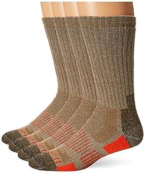 Carhartt Men s All-Terrain Boot Crew Socks Brown Shoe Size  6-12