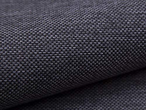 Lederkonzept Polsterstoff Mona Meterware Möbelstoff Dekostoff Stoff 12 antrazith-schwarz