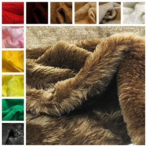 Panini - Tela de piel sintética de pelo corto – por metro a partir de 50 cm de largo x 140 cm de ancho fijo para decoración, ropa, carnaval