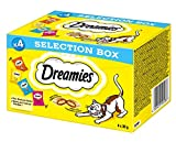 Dreamies Klassiker Katzensnack Selection Box mit Huhn, Käse, Rind und Lachs