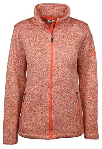 wind sportswear Damen Fleecejacke Größe 4XL Orange (orange)
