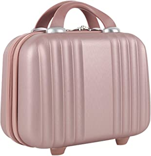 Lzttyee Mini Hard Shell Polychrome Cosmetic Case Luggage, Small Travel Portable Carrying Case Suitcase for Makeup