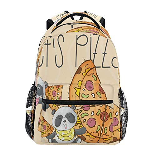 Laptop Backpack Boys Grils - Cute Panda Animal Pizza School Bookbags Computer Daypack for Travel...