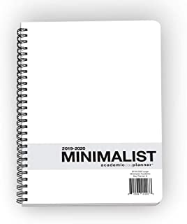 Action Publishing · Minimalist Student Planner · Dated Weekly and Monthly Agenda for Academic Year 2019-2020 · Large (8.5 x 11 inches)