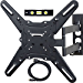 VideoSecu ML531BE TV Wall Mount for Most 27in-55in LED LCD Plasma Flat Screen Monitor up to 88 lb VESA 400x400, Full Motion Swivel 20 in Extension Arm, HDMI Cable Bubble Level WP5 (Renewed)