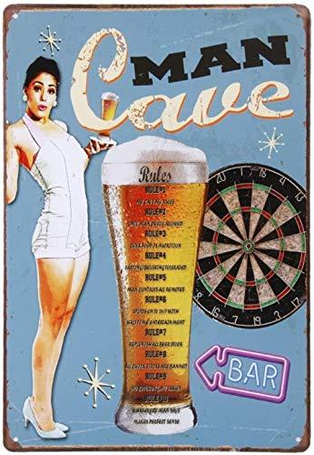 hsj Spielzeug 20x30cm Vintage-Metall Zinn Wandschilder Plaque-Plakat for Café Bar Pub Bier Exquisite Verarbeitung