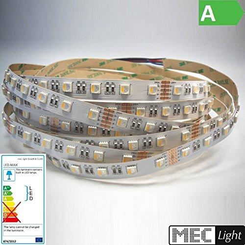1 m RGBNW LED-strip 60 x 4 chips MDs/m RGB-neutraal wit 4200-4500K - 24V - IP66 Nano verzegeling! - Waterbestendig.